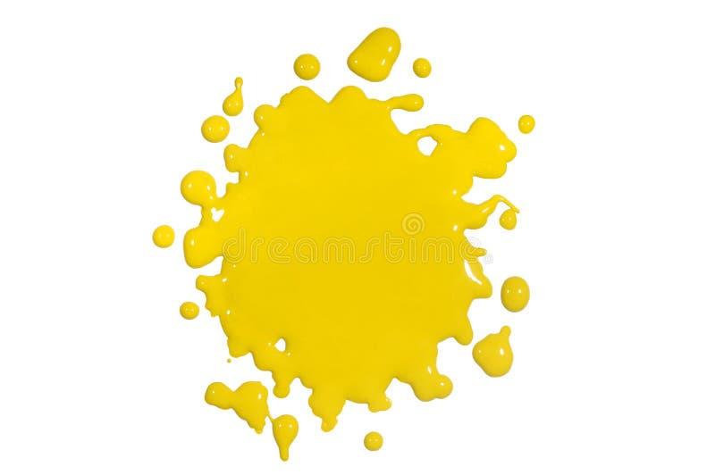 De gele Verf ploetert royalty-vrije stock fotografie