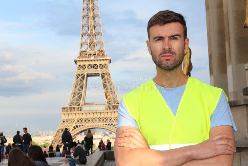 De gele vestbeweging in Parijs, Frankrijk royalty-vrije stock fotografie