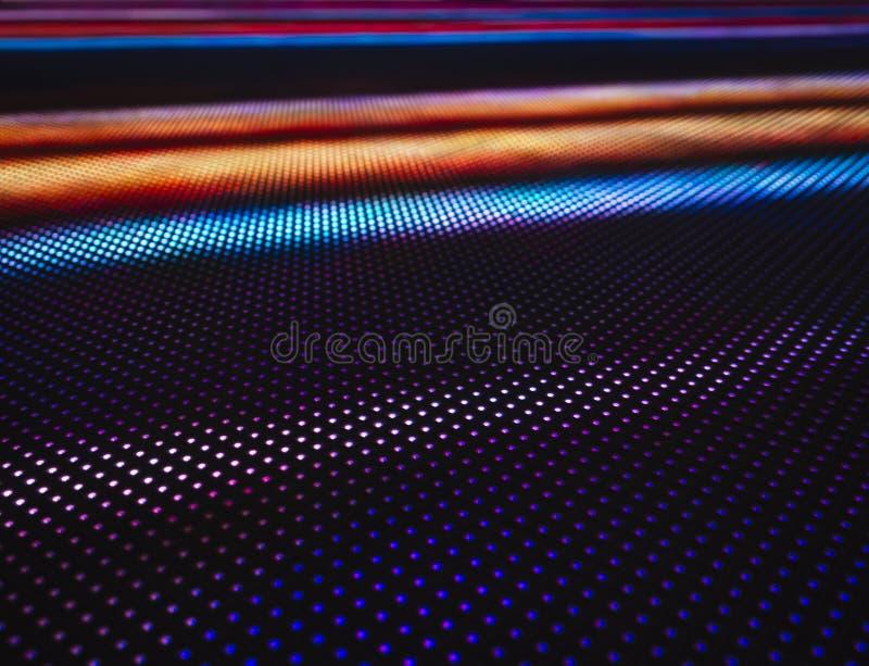 De geleide lichte kleurrijke abstracte achtergrond van de Patroontechnologie royalty-vrije stock foto's