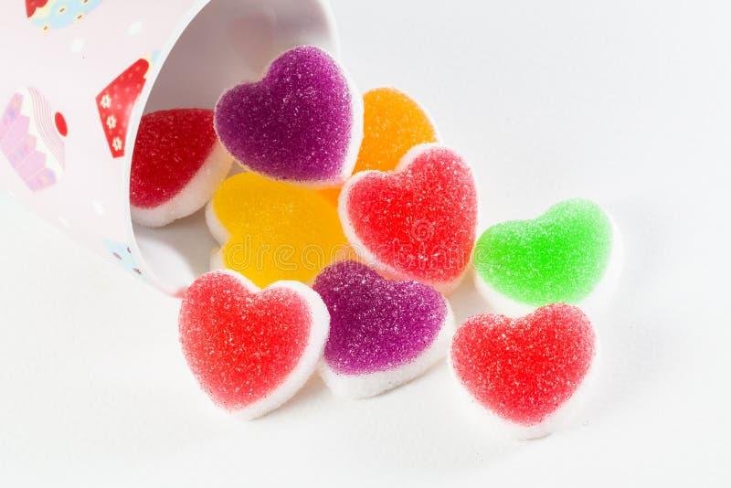 De geleisuikergoed van het fruit stock afbeeldingen