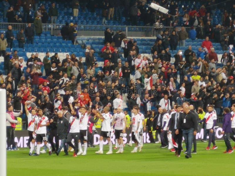 De gelijke Libertadores van River Plate Boca Juniors Final van Americs-Kop stock afbeelding