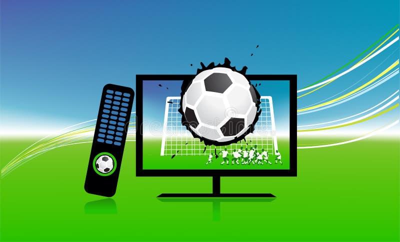 De gelijke van de voetbal op het kanaal van TVsporten vector illustratie