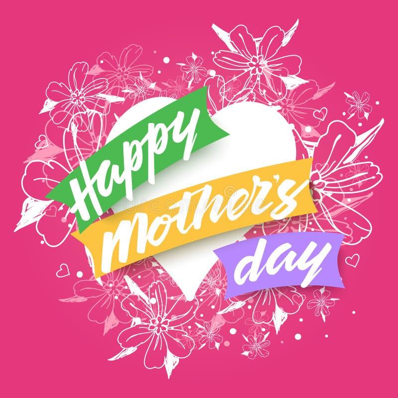De gelukkige achtergrond van de Dag van Moeders stock afbeelding