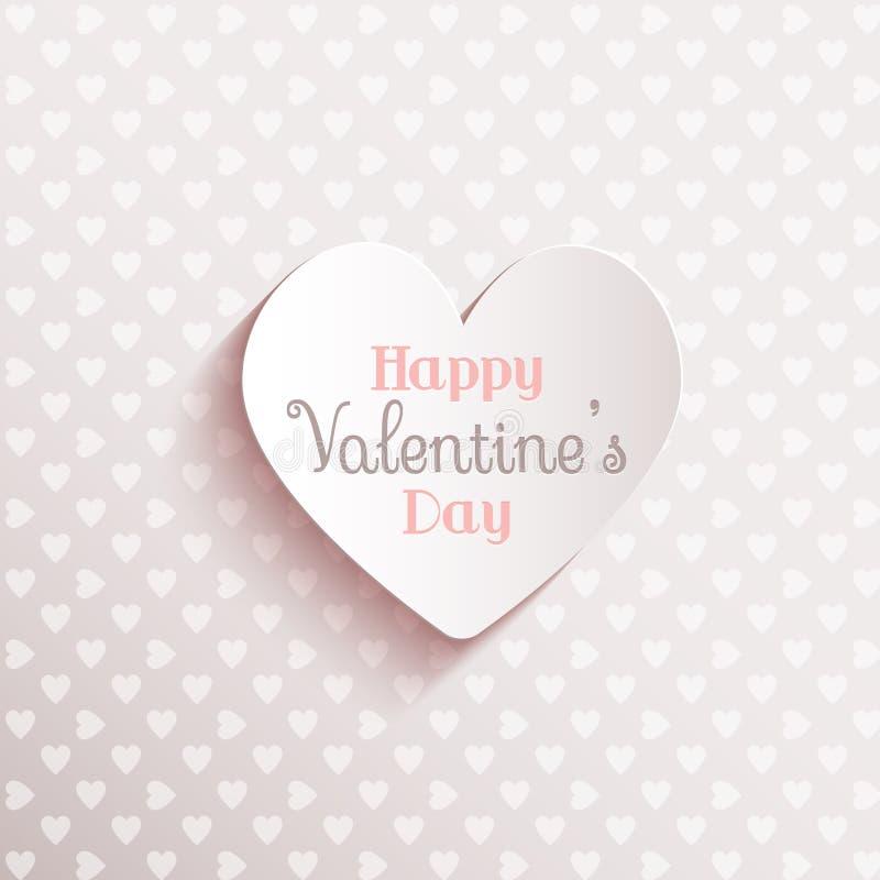 De gelukkige Achtergrond van de Dag van Valentijnskaarten royalty-vrije illustratie