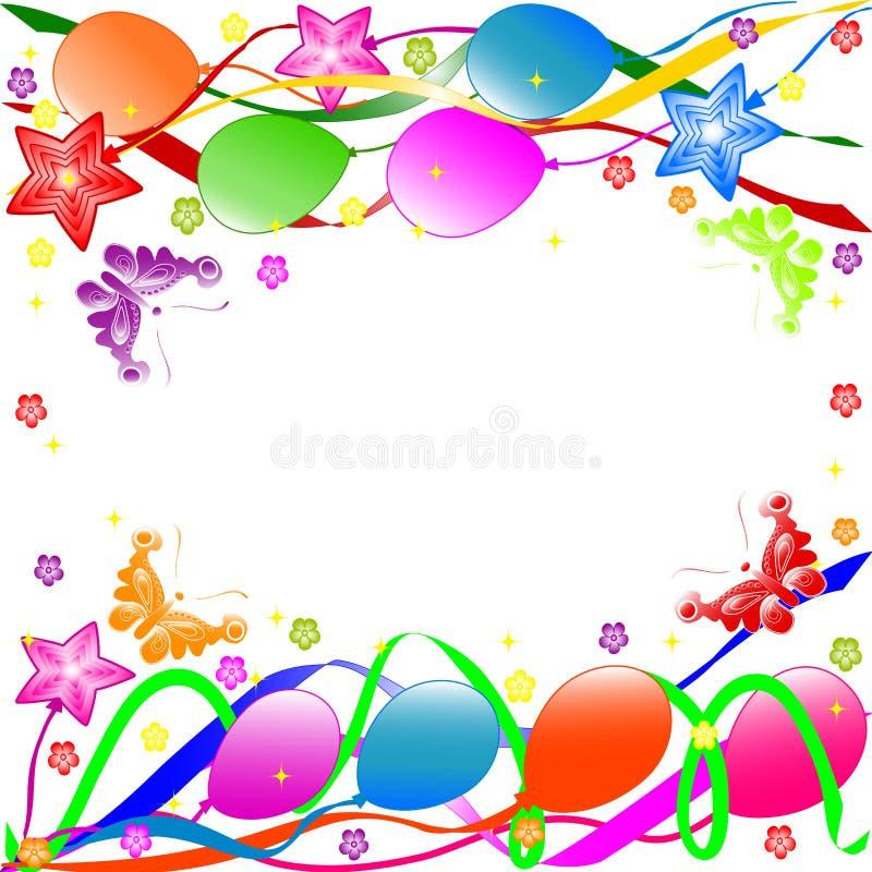 De gelukkige achtergrond van de Verjaardag vector illustratie
