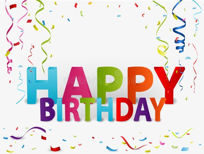 De gelukkige achtergrond van de verjaardagsgroet vector illustratie
