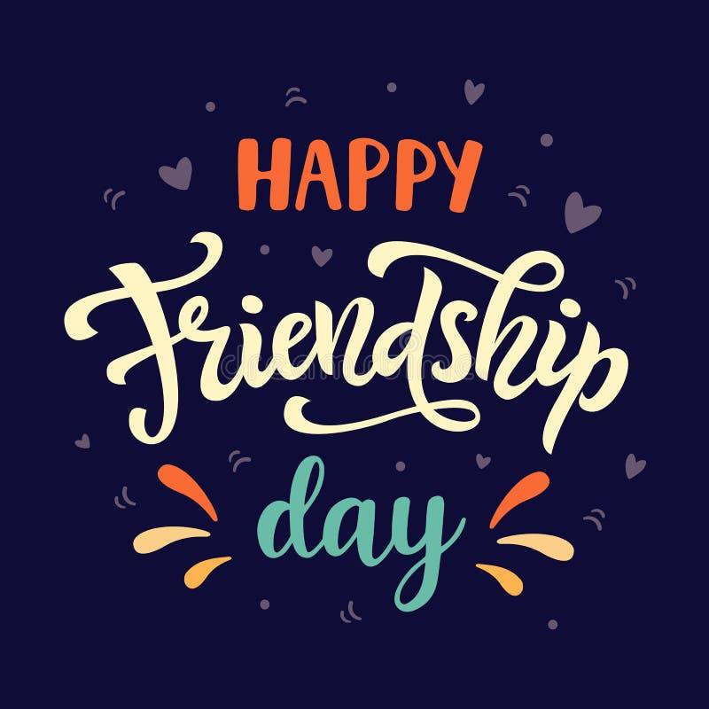 De gelukkige affiche van de vriendschapsdag vector illustratie