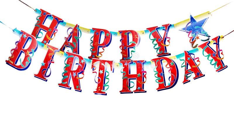 De gelukkige alfabetten van de Verjaardag stock afbeeldingen