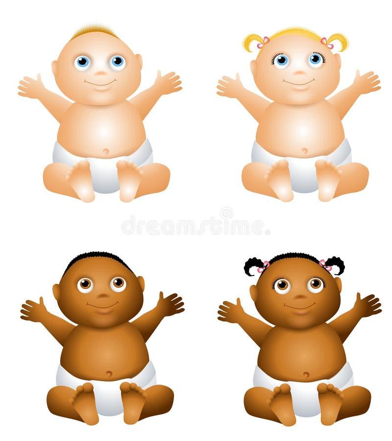 De Gelukkige Baby van het beeldverhaal stock illustratie