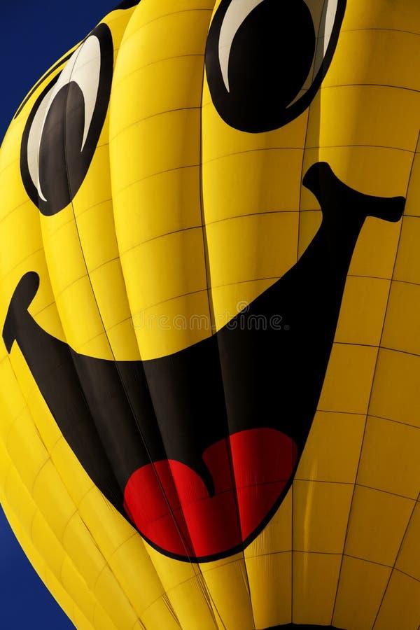 De gelukkige Ballon van de Hete Lucht van het Gezicht stock foto