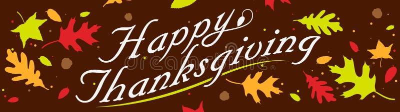 De gelukkige Banner van de Dankzegging