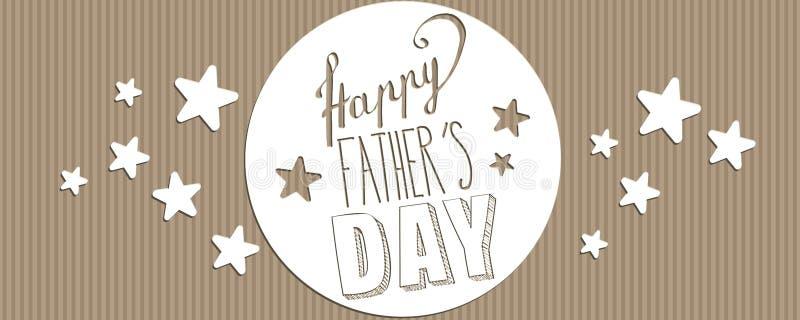 De gelukkige banner van de Vader` s dag royalty-vrije illustratie
