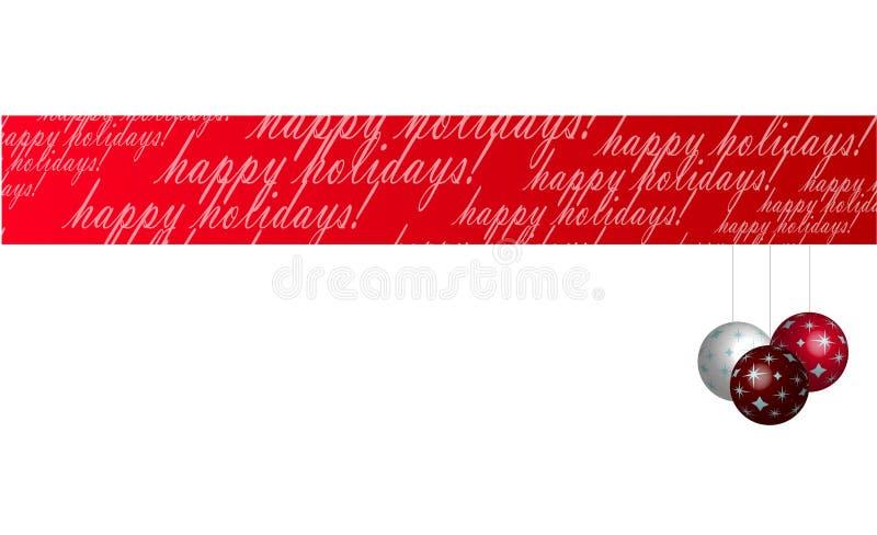 De gelukkige Banner van de Vakantie royalty-vrije illustratie