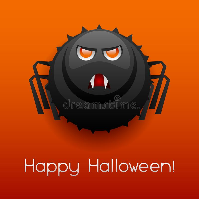De gelukkige boze spin van Halloween royalty-vrije illustratie