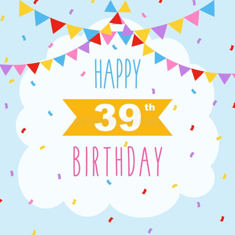 De gelukkige confettien van de verjaardagskaart stock foto's