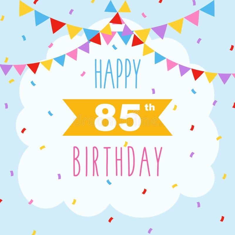 De gelukkige confettien van de verjaardagskaart vector illustratie