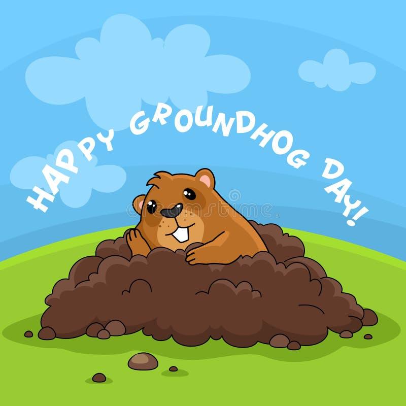 De de gelukkige Dag en verveling van Groundhog vector illustratie