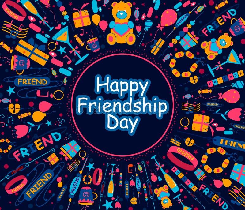 De gelukkige Dag van de Vriendschap royalty-vrije illustratie