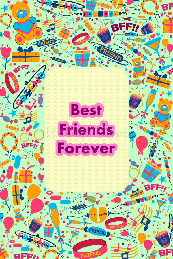 De gelukkige Dag van de Vriendschap stock illustratie