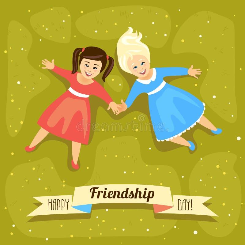 De gelukkige Dag van de Vriendschap 30 juli vakantie royalty-vrije illustratie