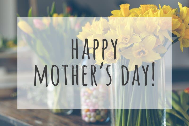 De gelukkige Dag van Moeders stock afbeelding