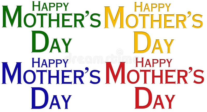 Download De Gelukkige Dag Van Moeders Stock Illustratie - Afbeelding: 4975229