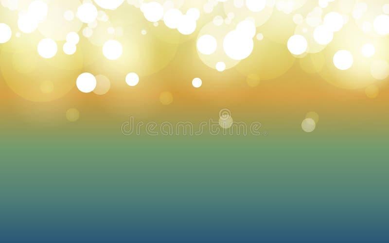 De gelukkige dag van Pasen de de zomersamenvatting vertroebelde groene achtergrond met bokeheffect De lente, aard, bewolkt Vector stock illustratie