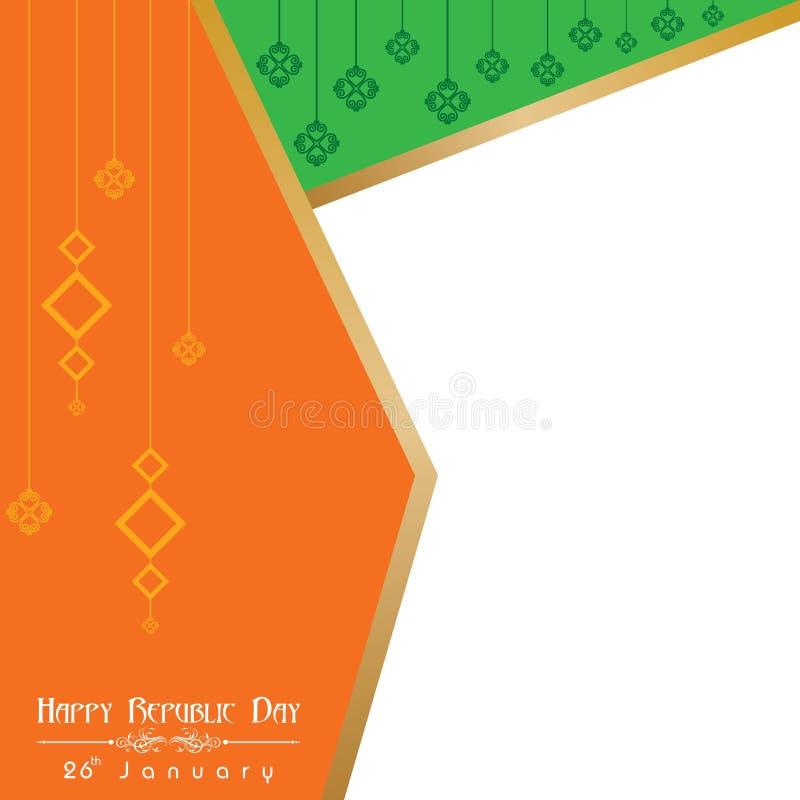 De gelukkige Dag van de Republiek van de illustratievector van India, afficheontwerp royalty-vrije illustratie