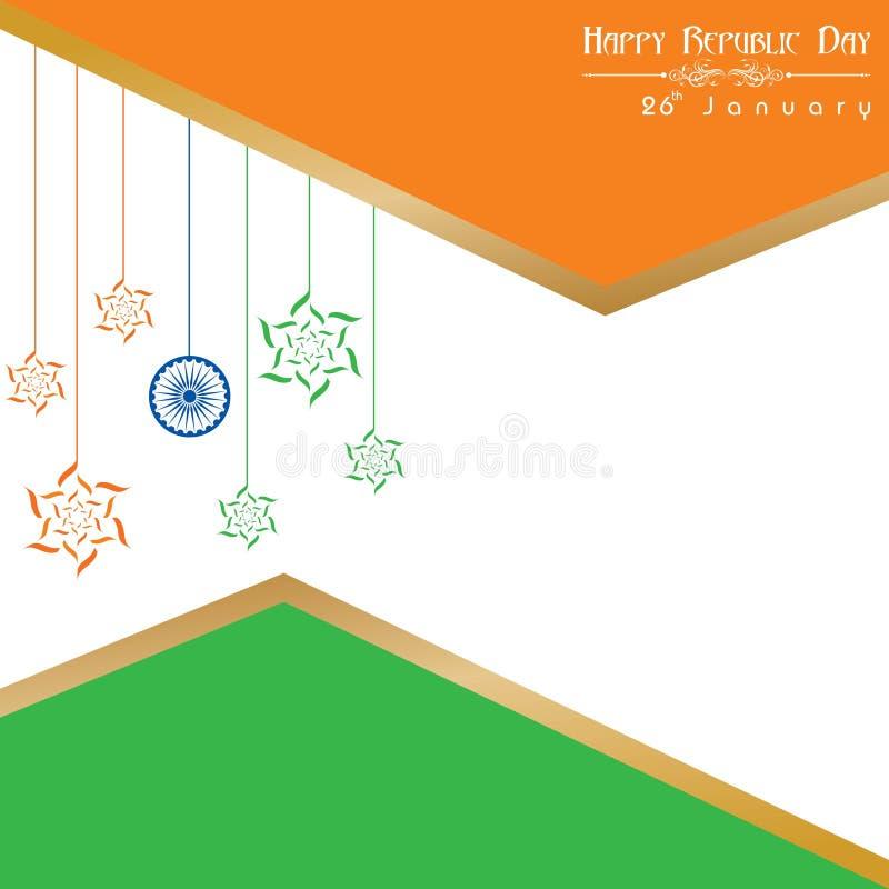 De gelukkige Dag van de Republiek van de illustratievector van India, afficheontwerp vector illustratie