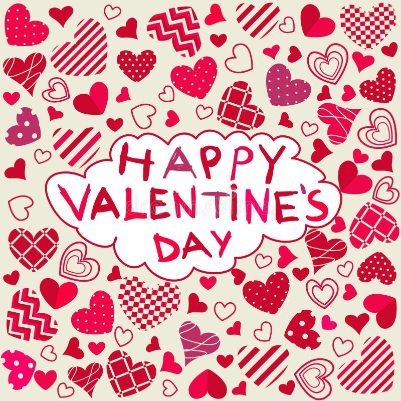 De gelukkige Dag van Valentijnskaarten stock illustratie