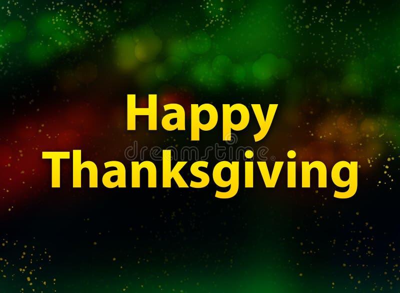 De gelukkige donkere achtergrond van Dankzeggings abstracte bokeh stock illustratie