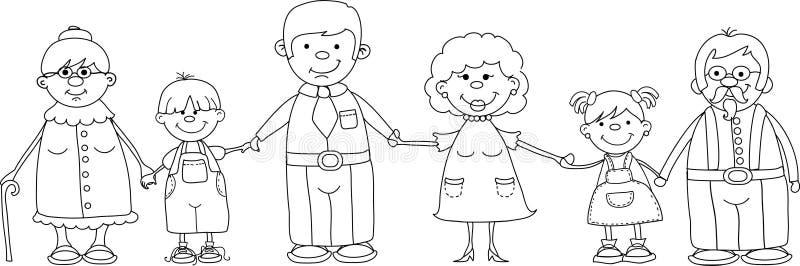 De gelukkige familieholding overhandigt vector vector illustratie