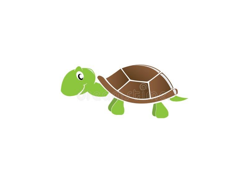 De gelukkige glimlach van de babyschildpad voor embleemontwerp royalty-vrije illustratie