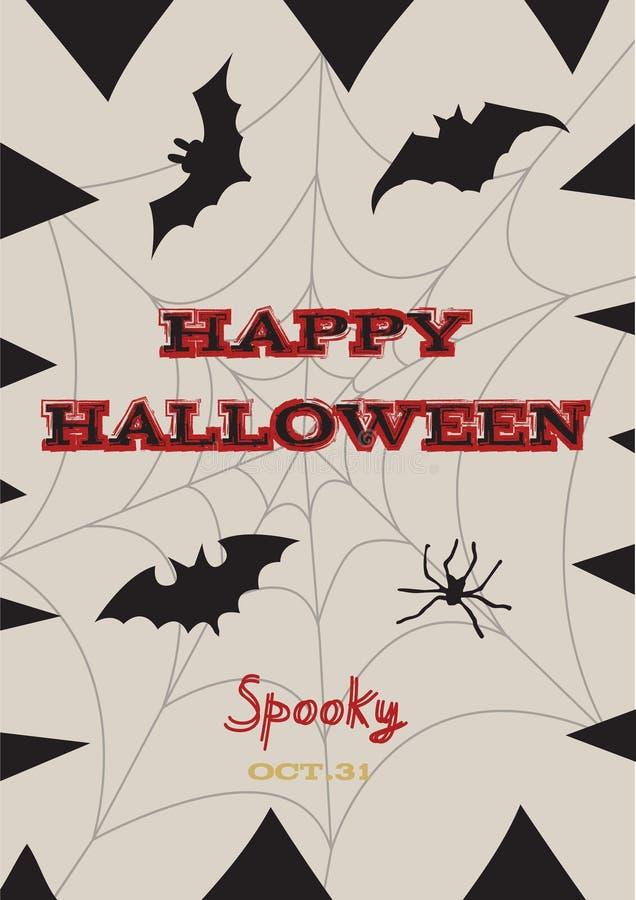 De gelukkige Halloween-kaart van de affichegroet royalty-vrije illustratie