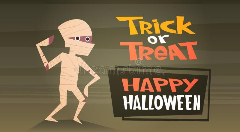 De gelukkige Halloween-van de de Decoratieverschrikking van de Bannervakantie van de de Partijgroet van het de Kaart Leuke Beeldv stock illustratie