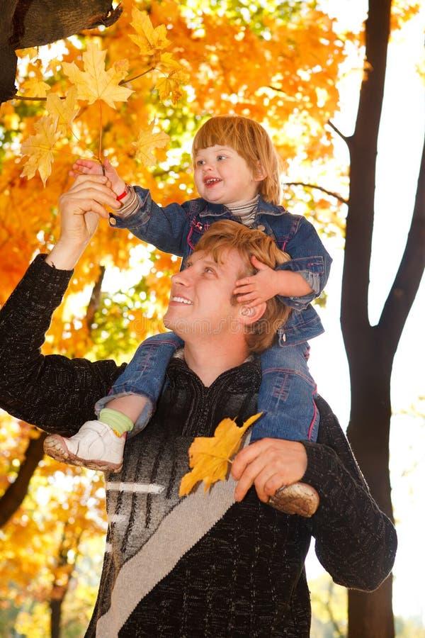 De gelukkige herfst stock foto