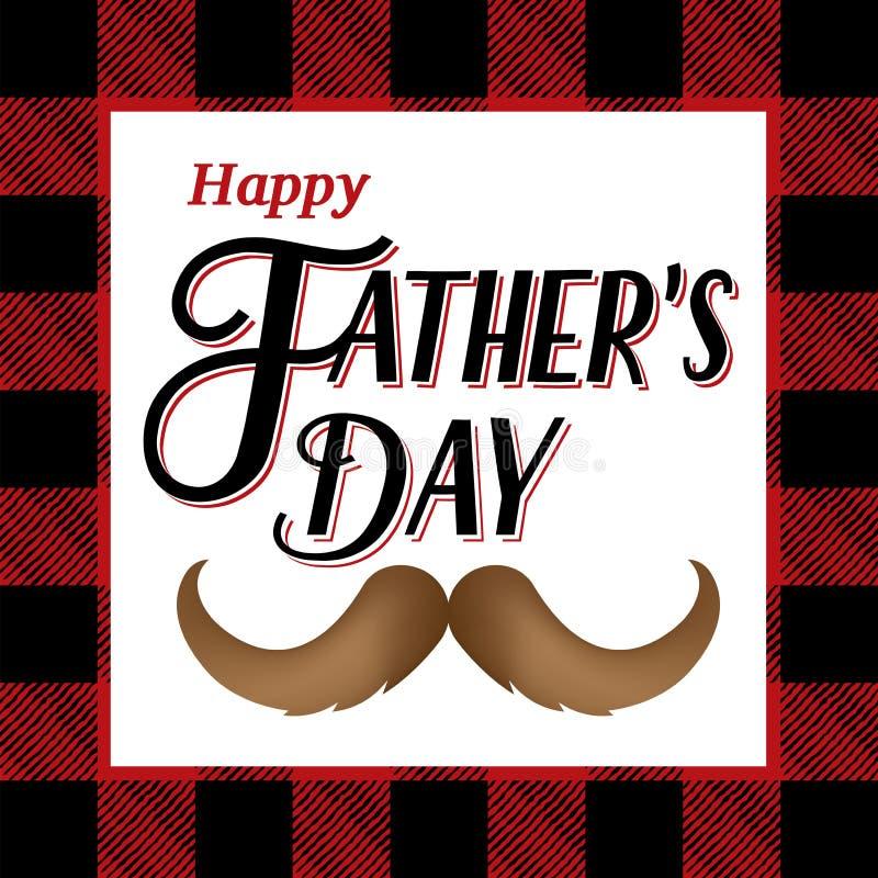 De gelukkige Illustratie van de Vaderdag vector illustratie