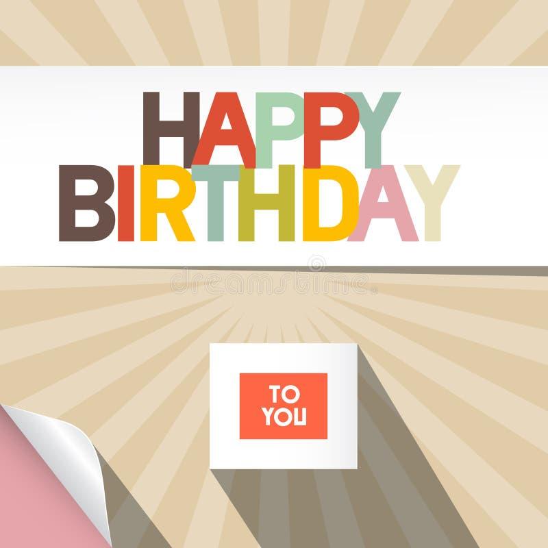 De gelukkige illustratie van de Verjaardag vector illustratie