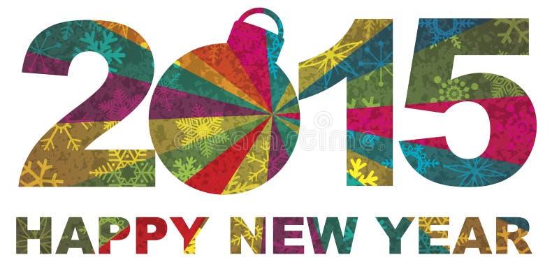 2015 de gelukkige Illustratie van Nieuwjaarcijfers vector illustratie