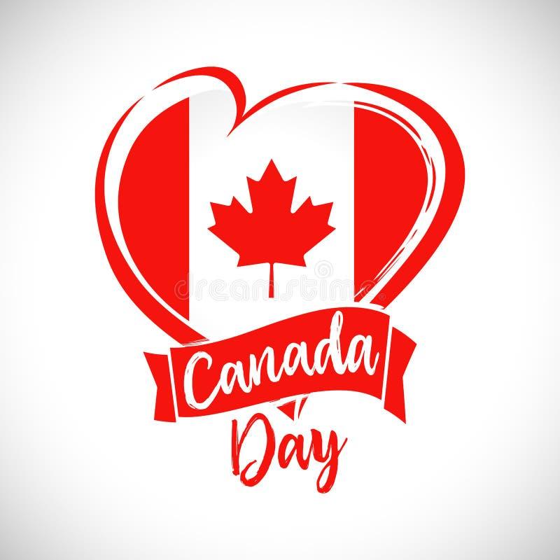 De gelukkige kaart van de de Dag mooie groet van Canada stock illustratie