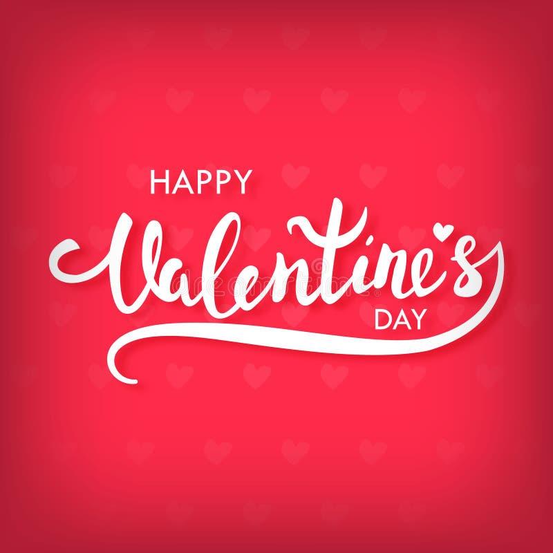 De gelukkige kaart van de de daggroet van Valentijnskaarten vector illustratie