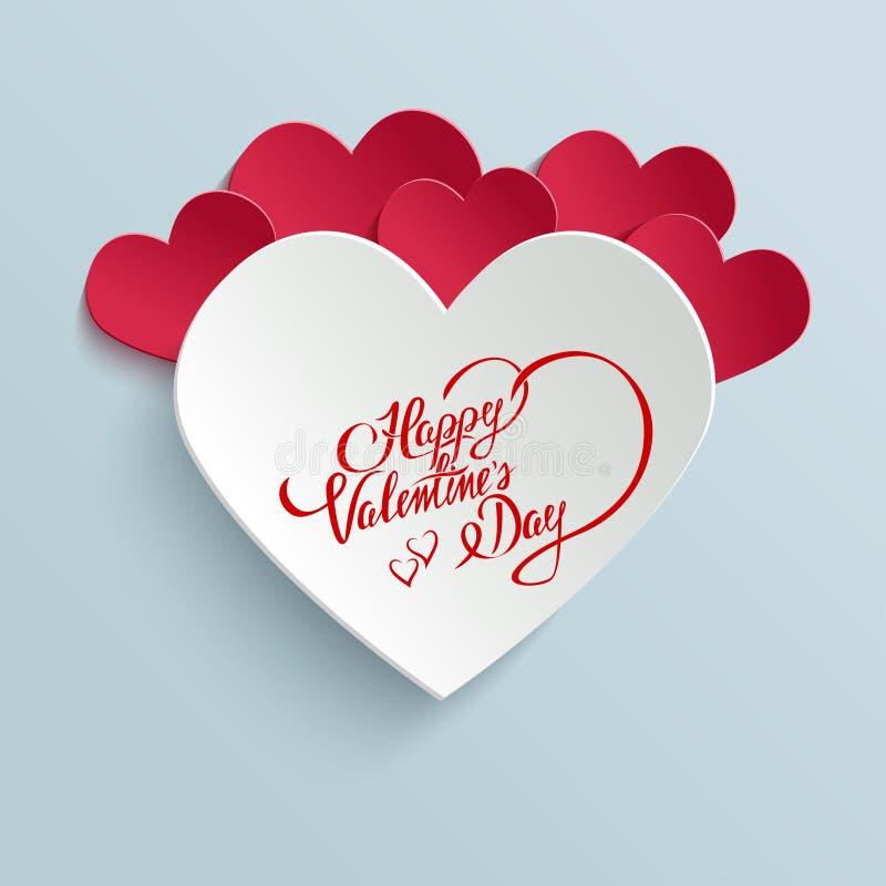 De gelukkige kaart van de de daggroet van Valentijnskaarten royalty-vrije illustratie