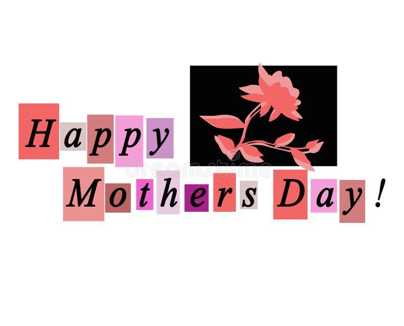 De gelukkige Kaart van de Groet van de Dag van Moeders Notecard vector illustratie