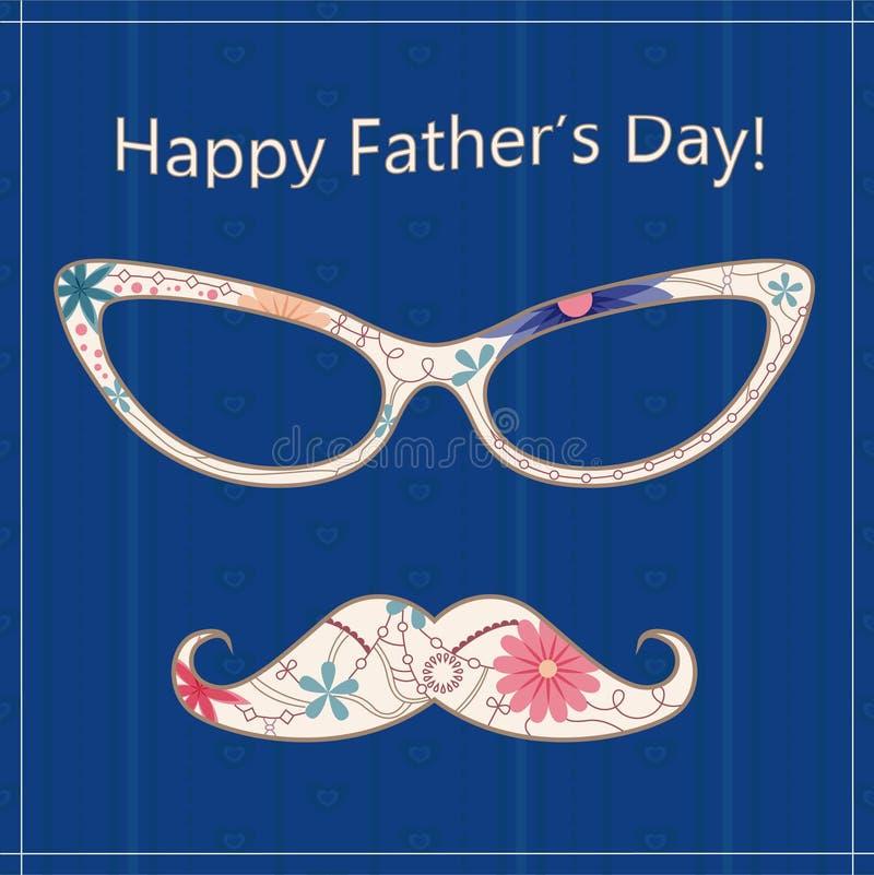 De gelukkige kaart van de Vaderdag vector illustratie