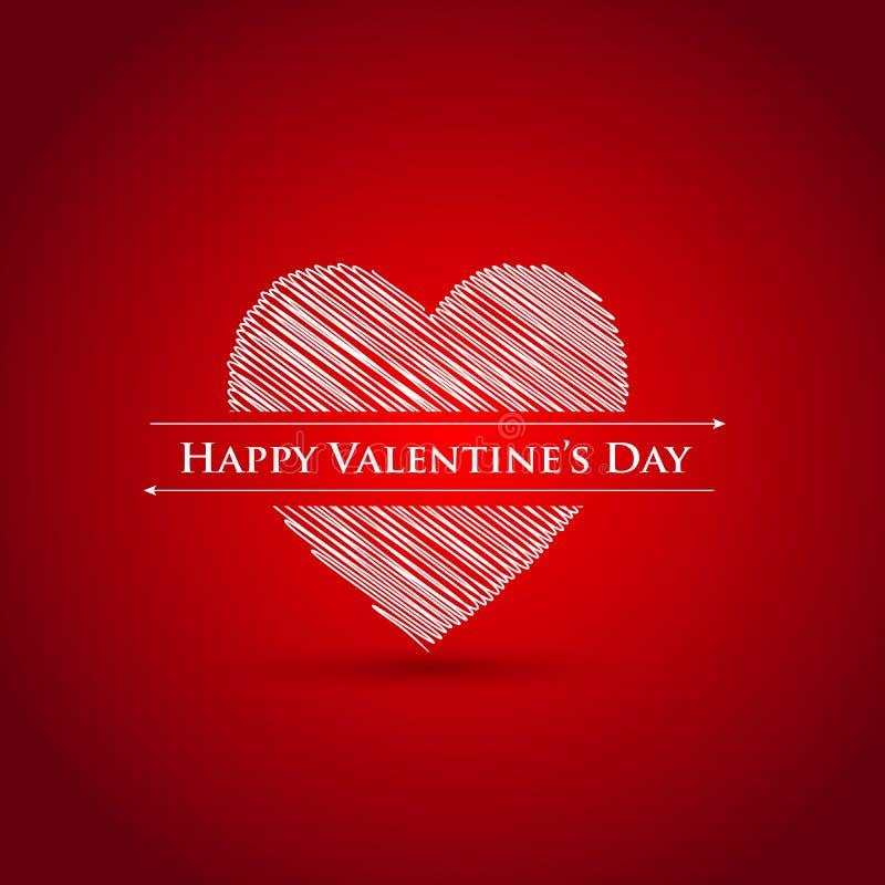 De gelukkige kaart van de Valentijnskaartendag royalty-vrije illustratie