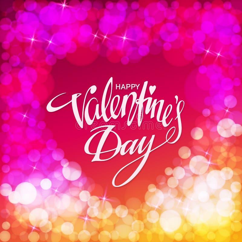 De gelukkige kaart van de valentijnskaartendag Vector illustratie stock illustratie