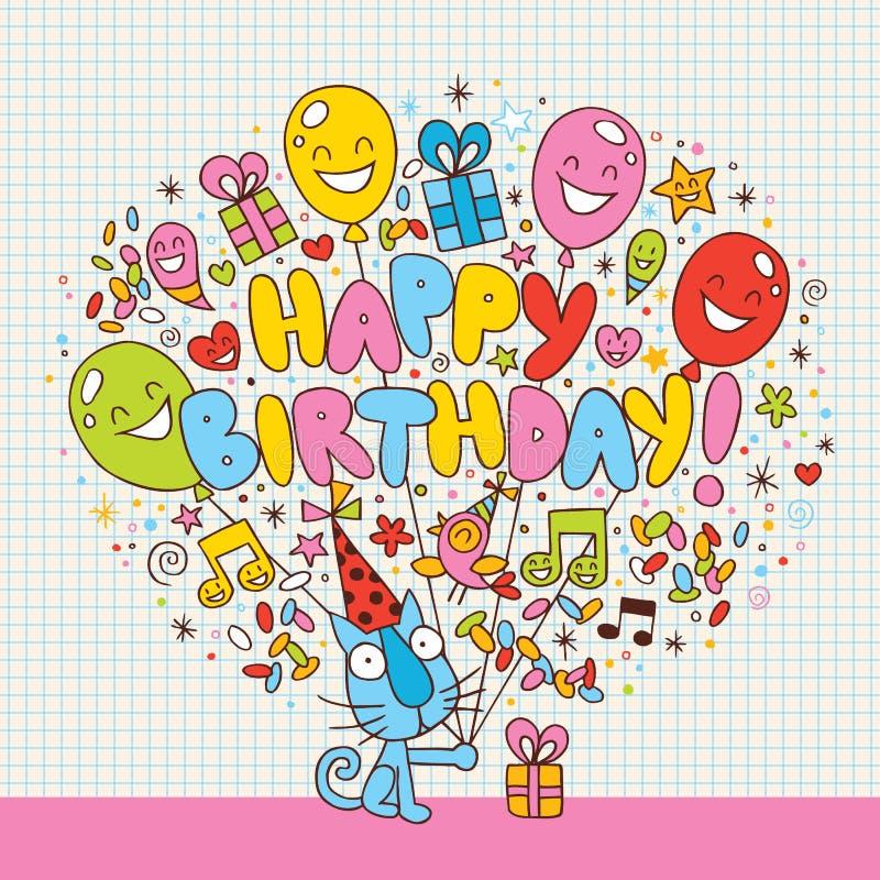 De gelukkige kaart van de Verjaardag stock illustratie