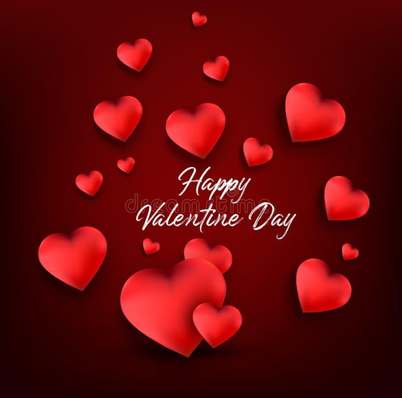 De gelukkige Kaart van de Groeten van de Dag van Valentijnskaarten stock illustratie