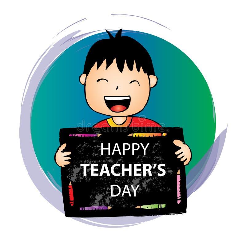 De gelukkige kaart van de Lerarendag stock illustratie