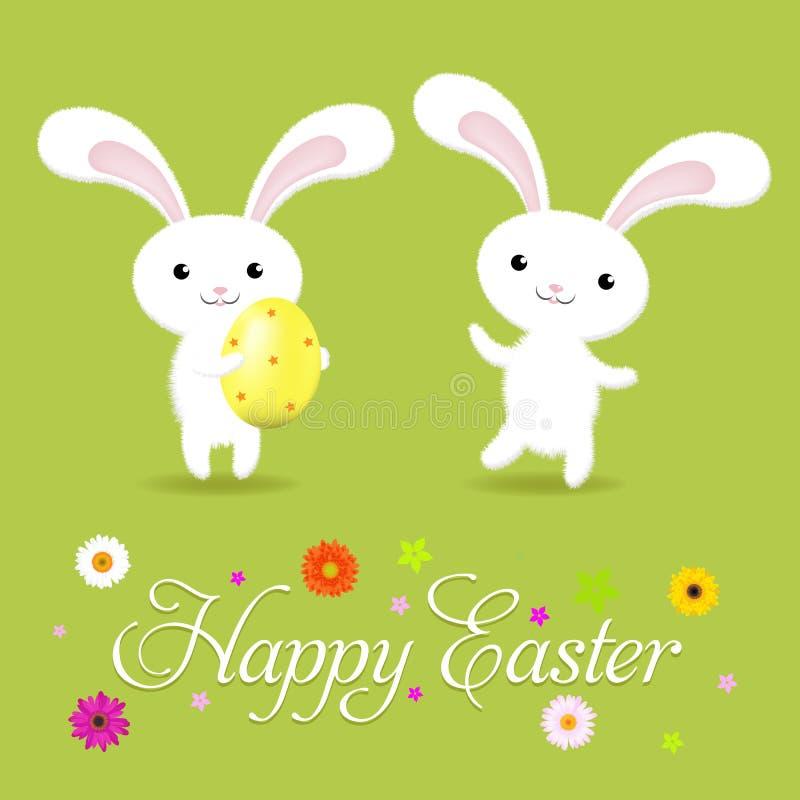 De gelukkige Kaart van Pasen stock illustratie